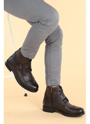 Ayakland Ayakland 02 Gomes Termo Taban ıçi Kürklü Fermuarlı Erkek Bot Ayakkabı Kahve